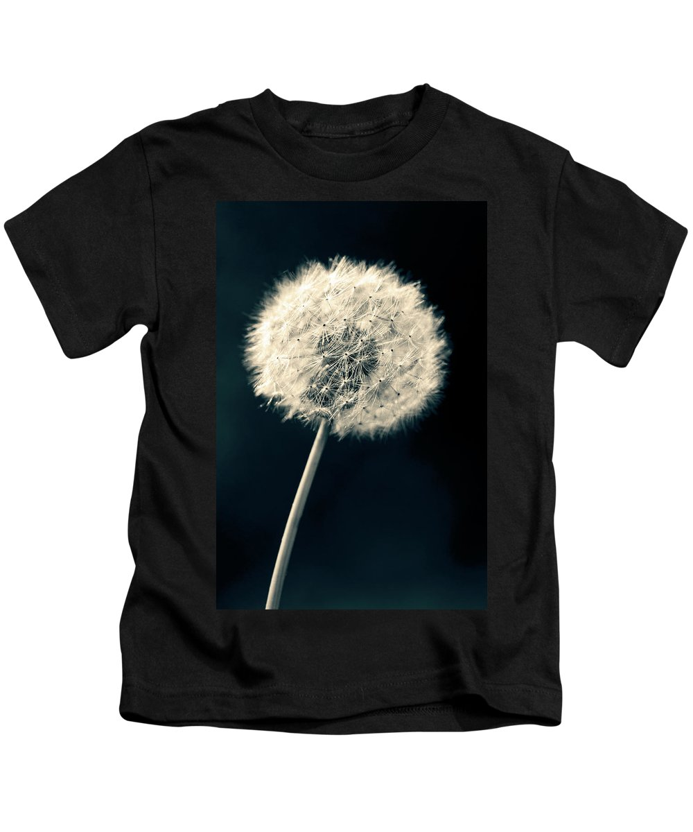 Closeup Kids T-Shirt featuring the photograph Dandelion by U Schade