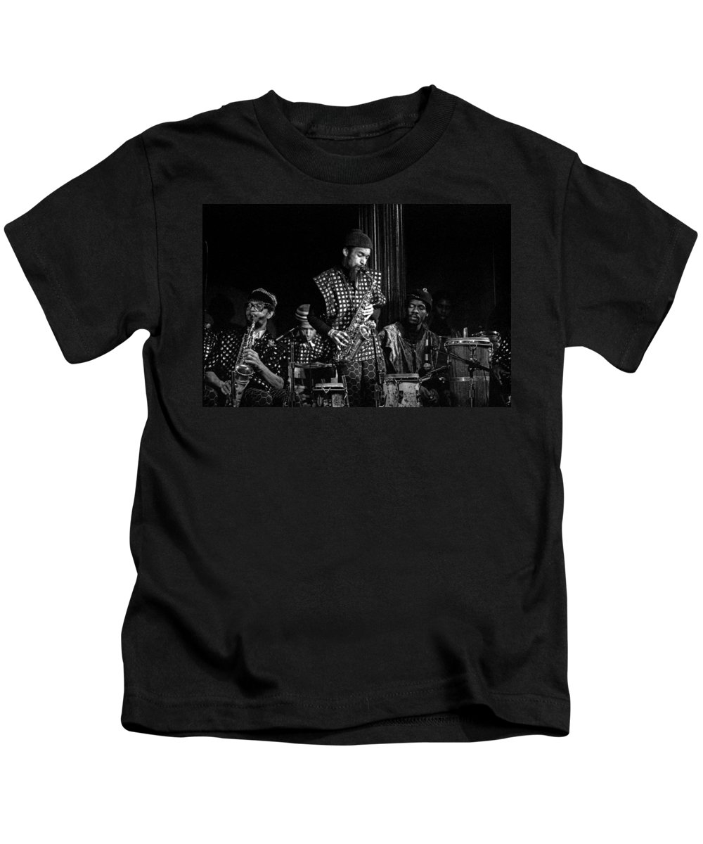 Jazz Kids T-Shirt featuring the photograph Danny Davis With Sun Ra Arkestra by Lee Santa
