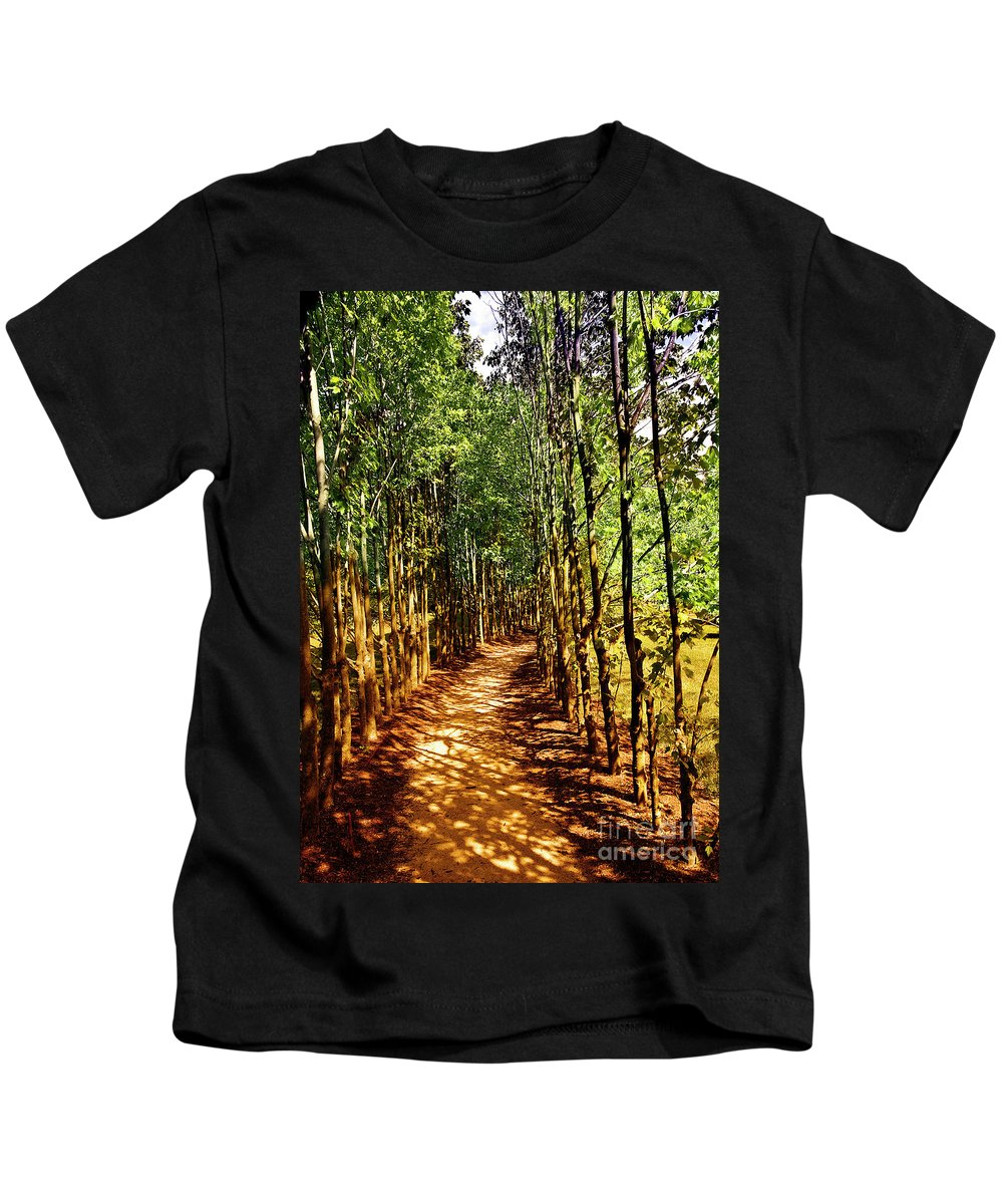 Trees Kids T-Shirt featuring the photograph Dappled Days by Madeline Ellis