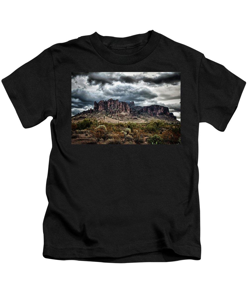 Arizona Kids T-Shirt featuring the photograph Dark And Gloomy by Saija Lehtonen