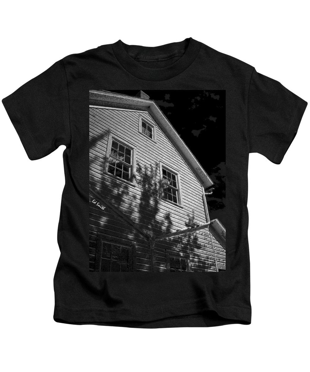 Dark Shadows Kids T-Shirt featuring the photograph Dark Shadows by Edward Smith