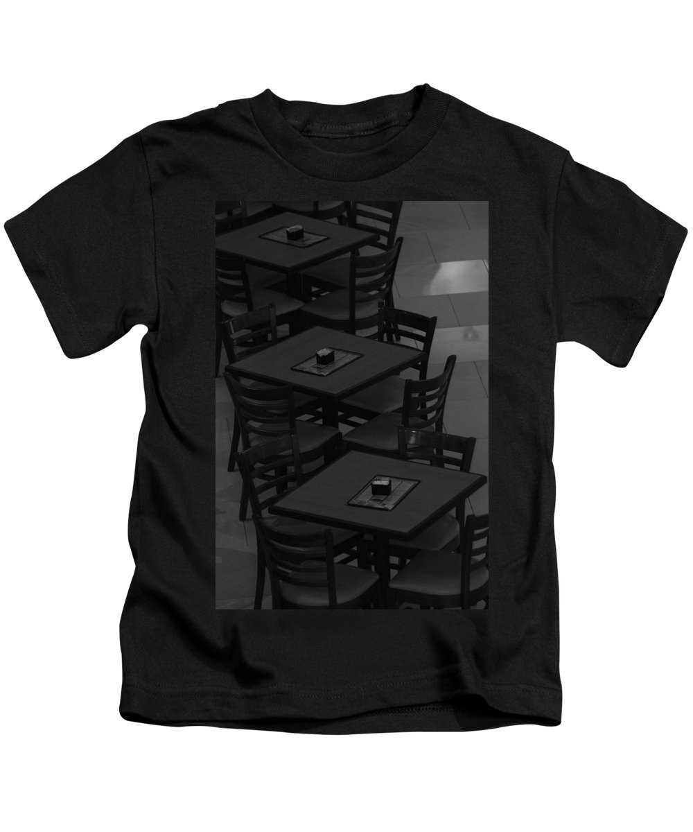 Tables Kids T-Shirt featuring the photograph Dark Tables by Rob Hans