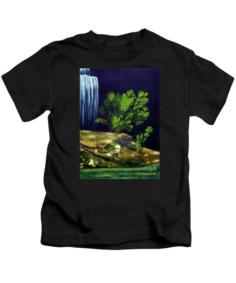 Fine Art Kids T-Shirt featuring the painting Dark Waters by Patricia Griffin Brett