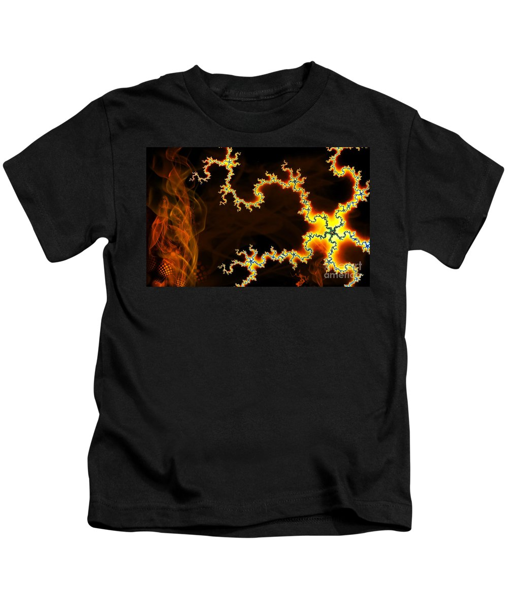 Clay Kids T-Shirt featuring the digital art Dark World by Clayton Bruster