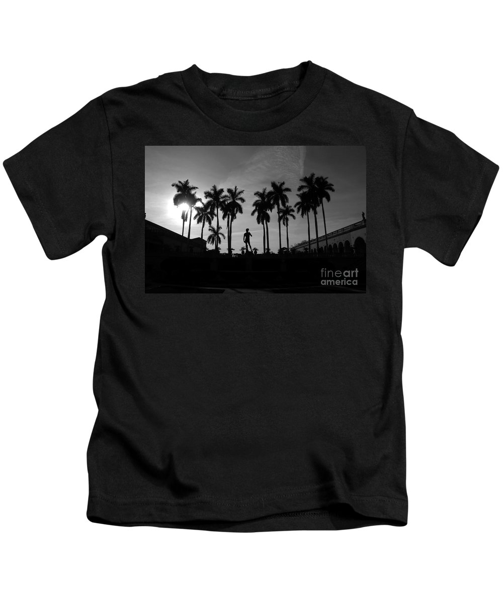David Kids T-Shirt featuring the photograph David With Palms by David Lee Thompson