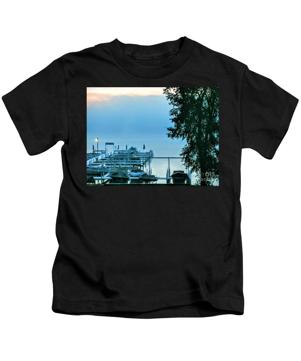 Dawn Kids T-Shirt featuring the photograph Dawn At Bay Colony by Jane Butera Borgardt