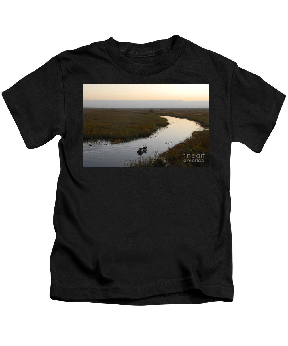 Fishing Kids T-Shirt featuring the photograph Dawn Everglades Florida by David Lee Thompson