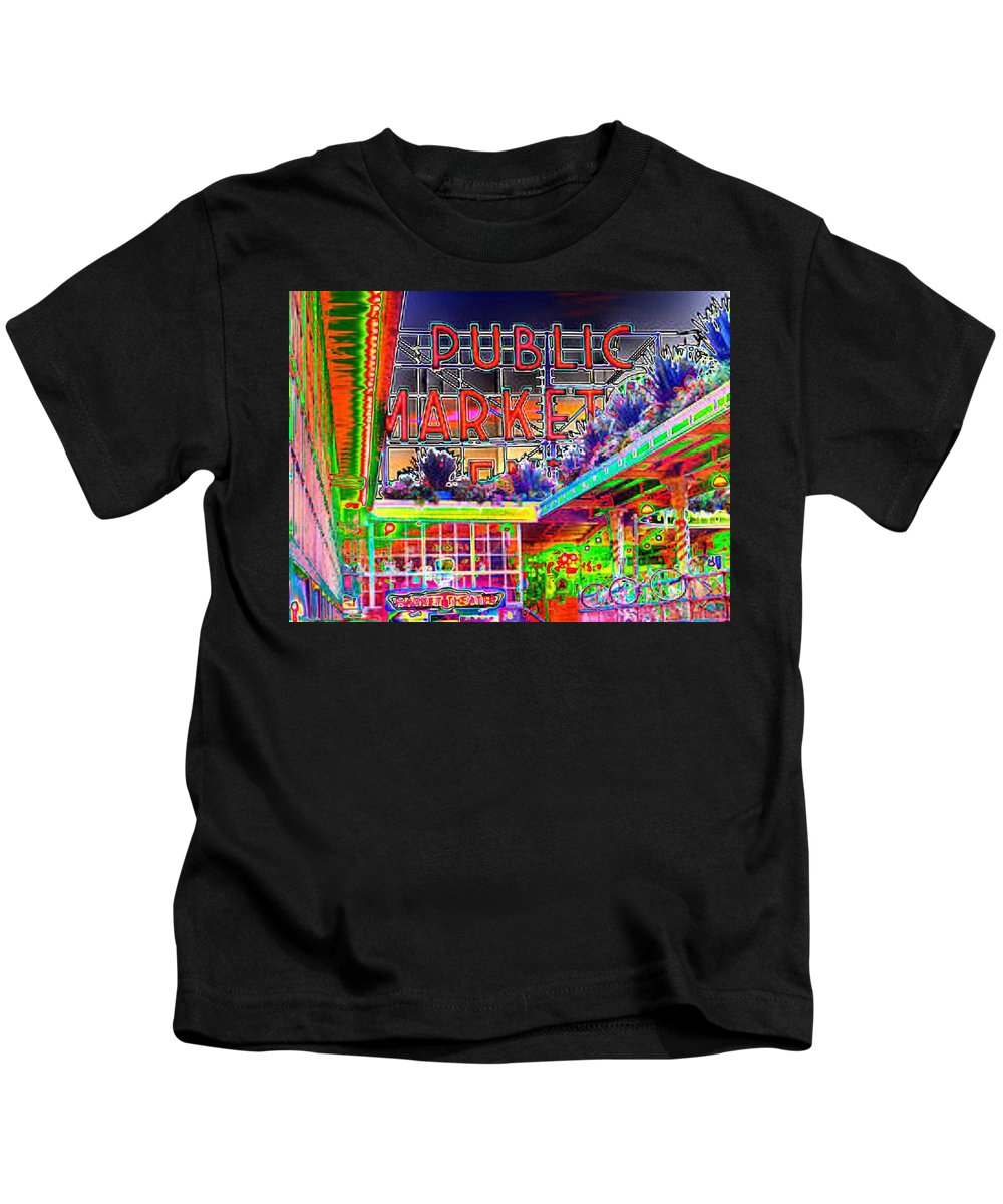 Seattle Kids T-Shirt featuring the photograph Day At The Market by Tim Allen