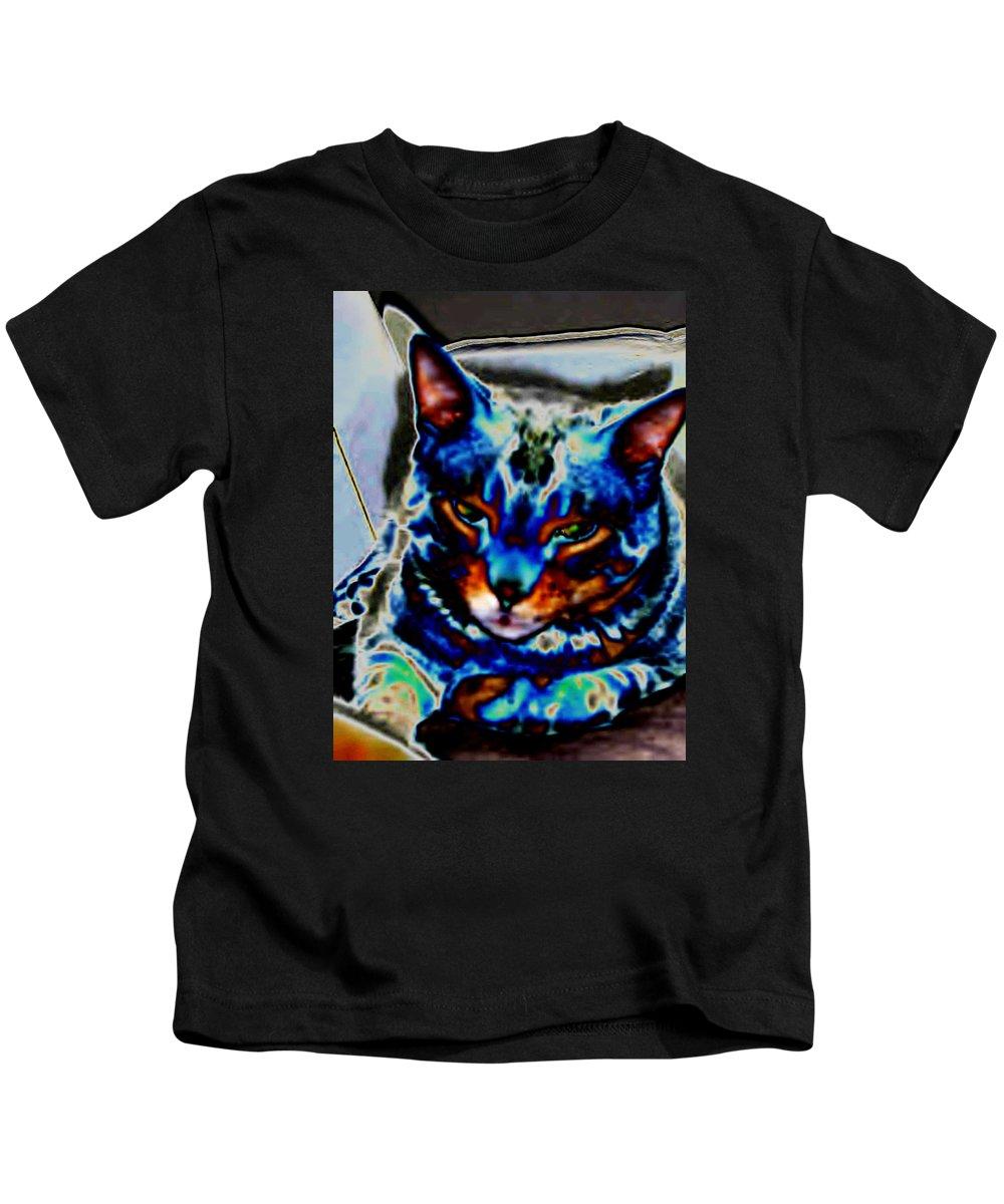 Cat Kids T-Shirt featuring the photograph Day Dreamer by Dawn Johansen