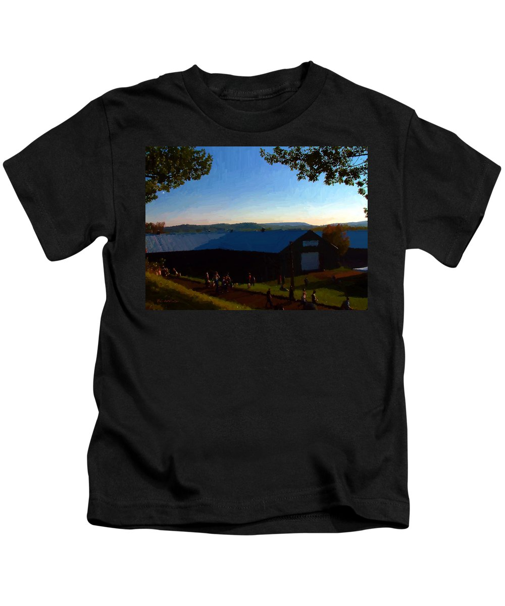 Autumn Kids T-Shirt featuring the digital art Day's End by RC DeWinter