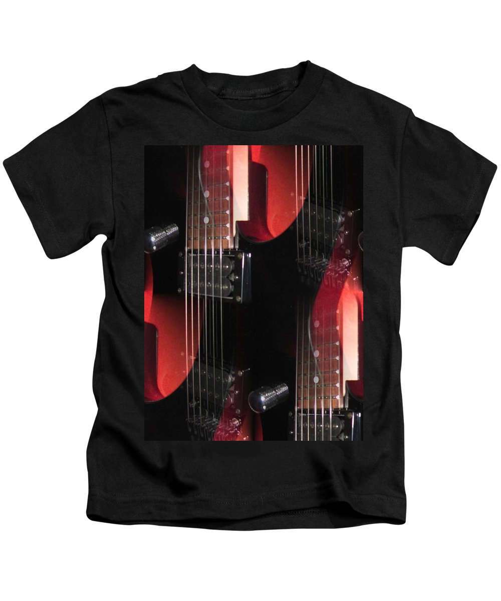 Guitar Kids T-Shirt featuring the photograph Dazed by Jennie Richards