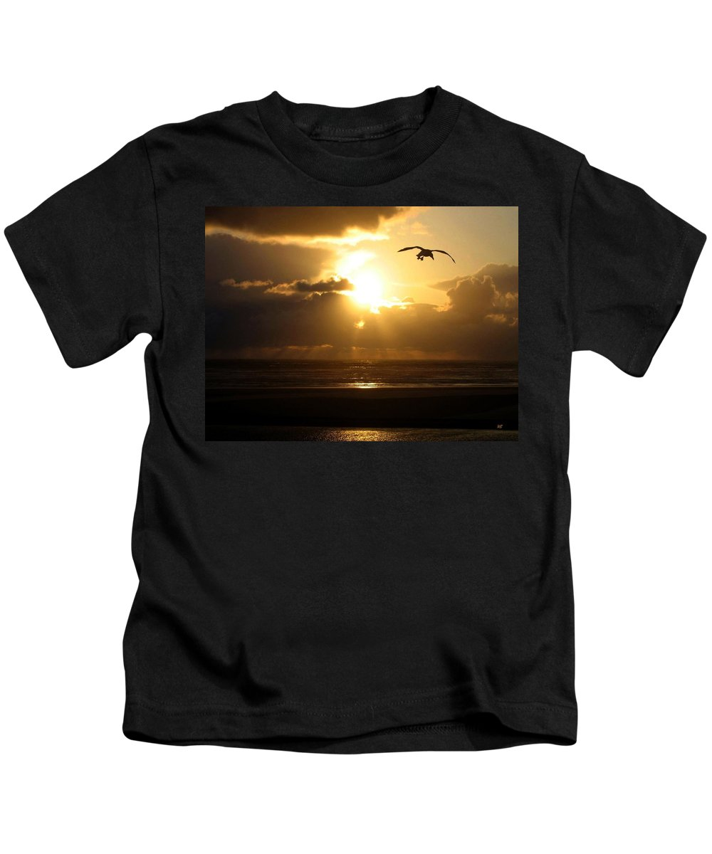 Sunset Kids T-Shirt featuring the photograph Dazzling Dusk by Will Borden