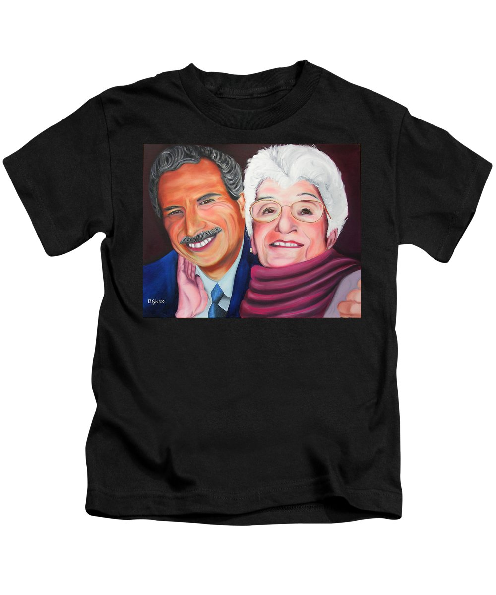 Dean Kids T-Shirt featuring the painting Dean And Frances by Dean Glorso