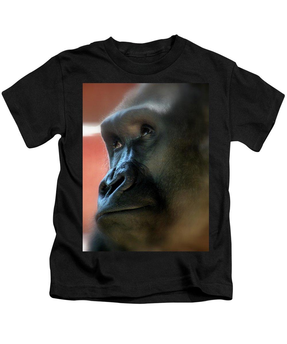 Gorilla Kids T-Shirt featuring the photograph Dear God by Trish Tritz