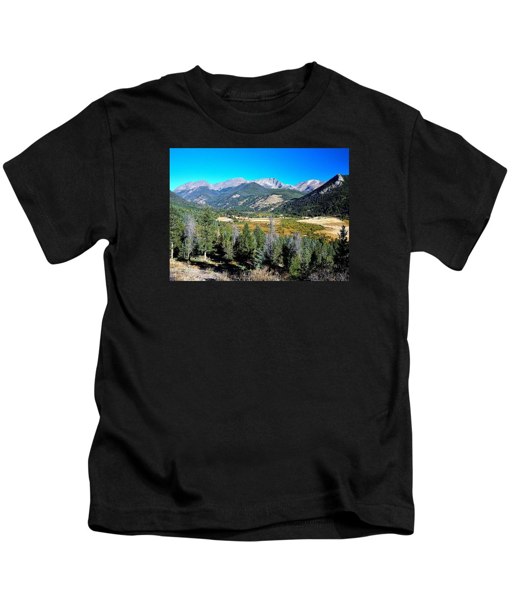Rockies Kids T-Shirt featuring the photograph Deep Vista by John Robert Galuppo