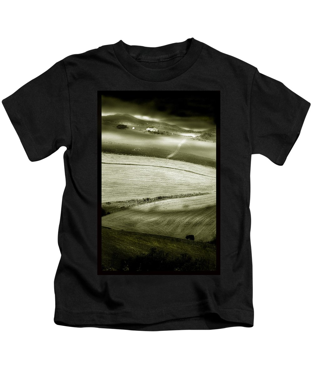 Landscape Kids T-Shirt featuring the photograph Deepening Shadows by Mal Bray