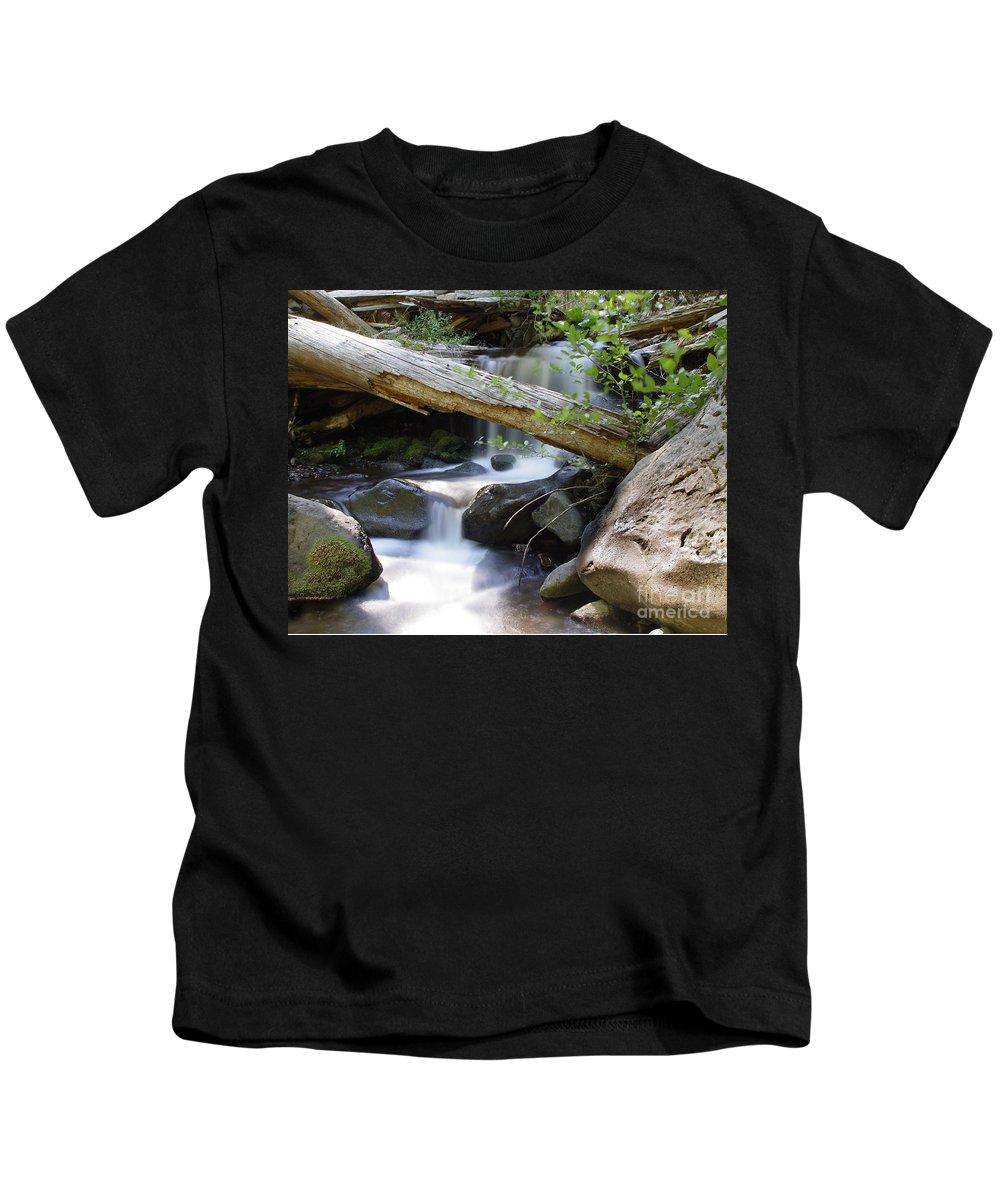 Creek Kids T-Shirt featuring the photograph Deer Creek 03 by Peter Piatt
