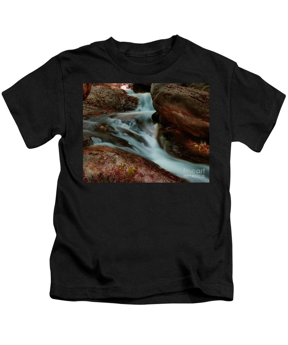 Creek Kids T-Shirt featuring the photograph Deer Creek 04 by Peter Piatt
