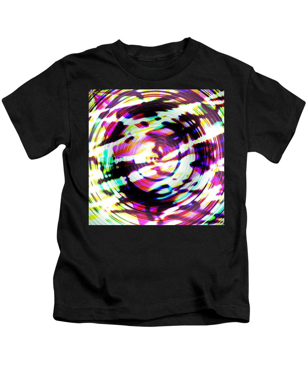 Abstract Kids T-Shirt featuring the digital art Def by Blind Ape Art