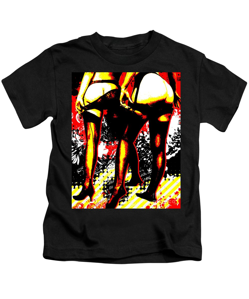 Nostalgic Seduction Kids T-Shirt featuring the digital art Derriere by Chris Andruskiewicz