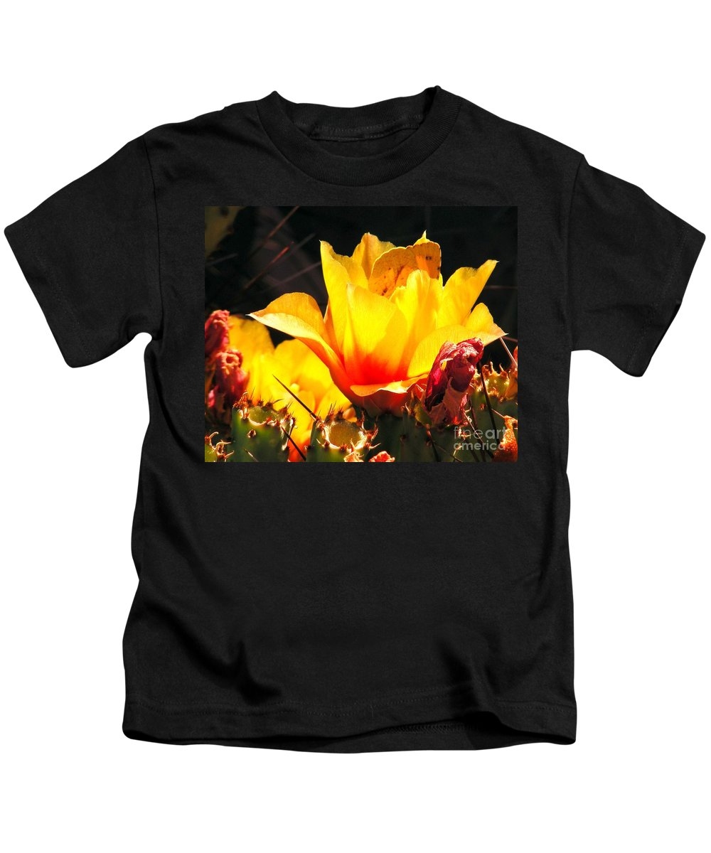 Cactus Bloom Kids T-Shirt featuring the photograph Desert Beauty by Marilyn Smith