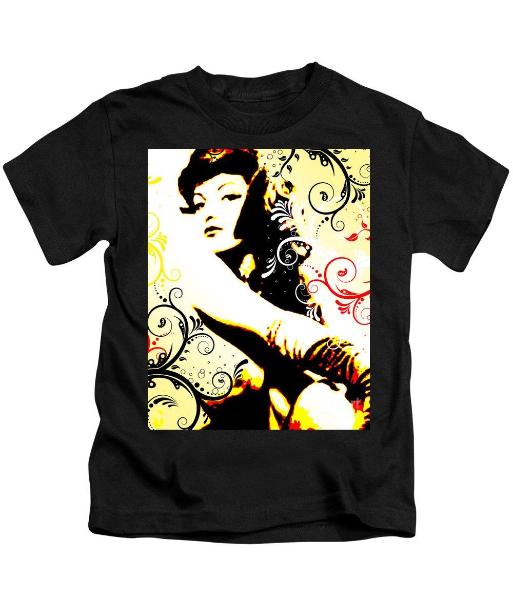 Nostalgic Seduction Kids T-Shirt featuring the digital art Desire by Chris Andruskiewicz