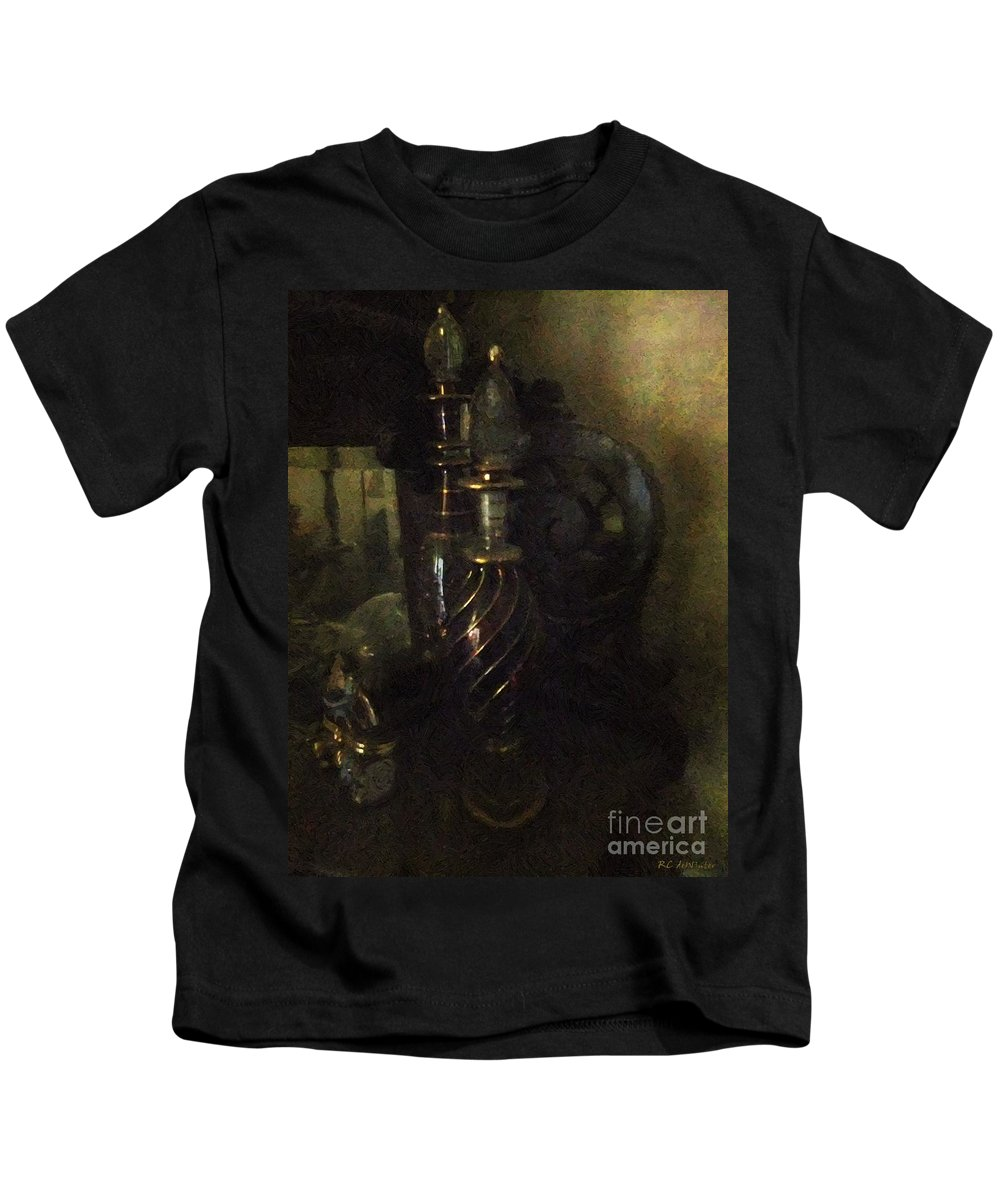 Antiquated Kids T-Shirt featuring the painting Detail - Miss Havisham's Parlor by RC DeWinter