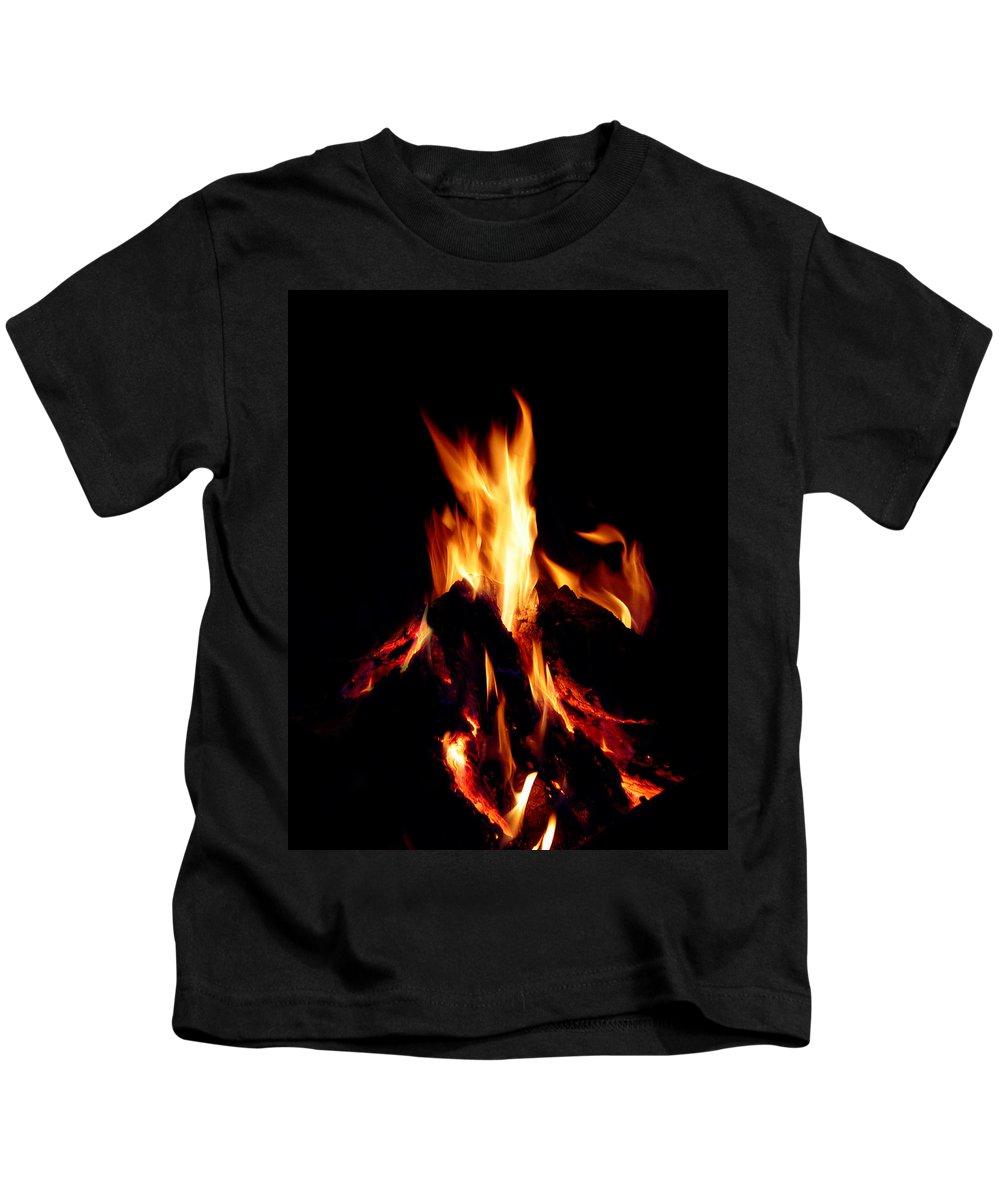 Devil Kids T-Shirt featuring the photograph Devil Fire by Peter Piatt