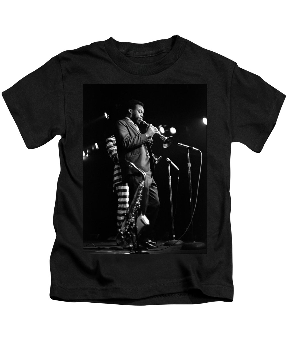 Ornette Coleman Kids T-Shirt featuring the photograph Dewey Redman On Musette by Lee Santa