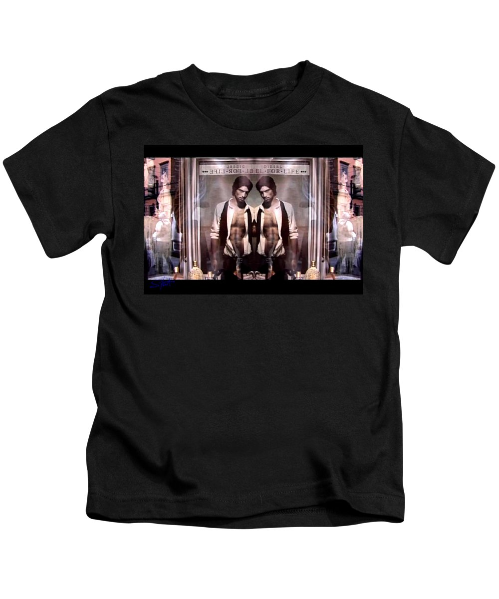 Dream Kids T-Shirt featuring the photograph Diesel For Life by Charles Stuart