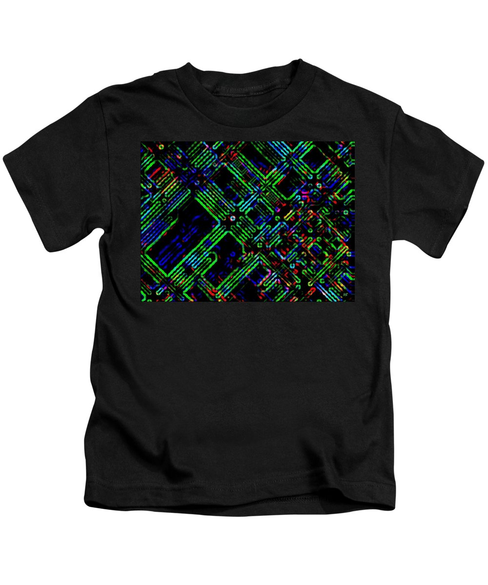 Abstract Kids T-Shirt featuring the digital art Diffusion Component by Will Borden