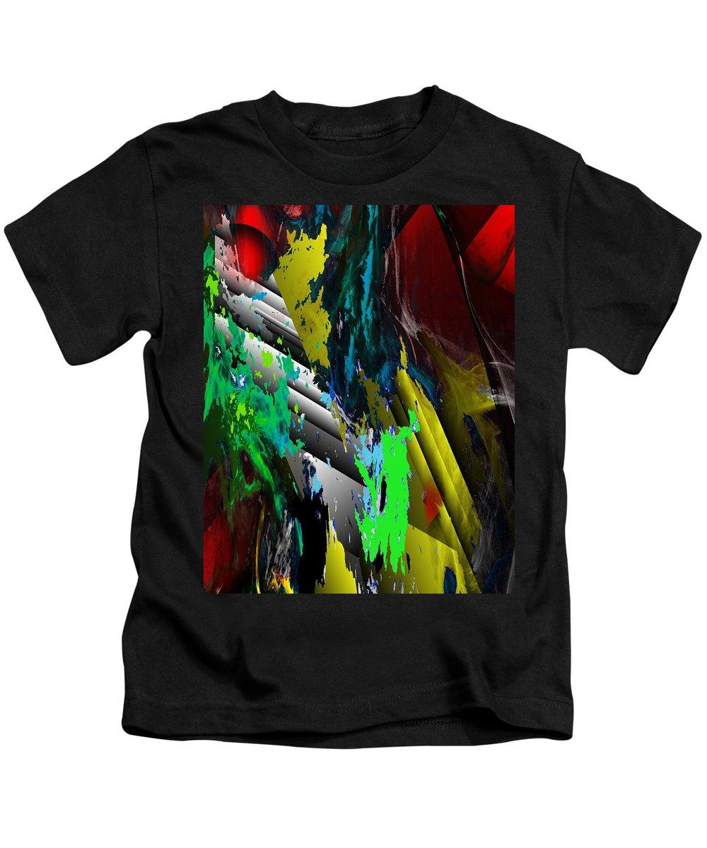 Fine Art Kids T-Shirt featuring the digital art Digital Abstraction 070611 by David Lane
