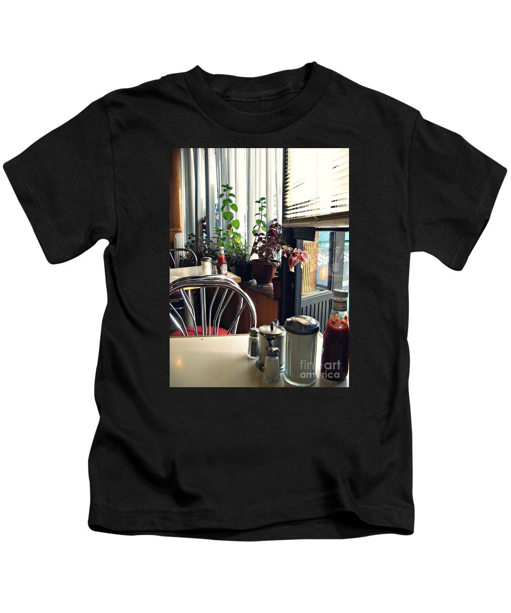 Diner Kids T-Shirt featuring the photograph Diner Still Life 2 by Sarah Loft