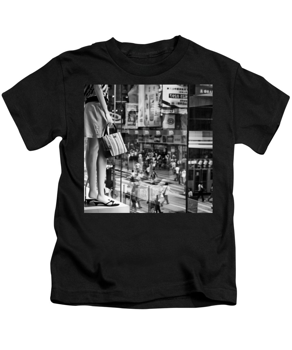 Mannequin Kids T-Shirt featuring the photograph Display by Dave Bowman