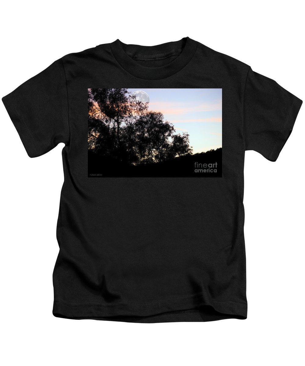 Clay Kids T-Shirt featuring the photograph Distant Moon by Clayton Bruster