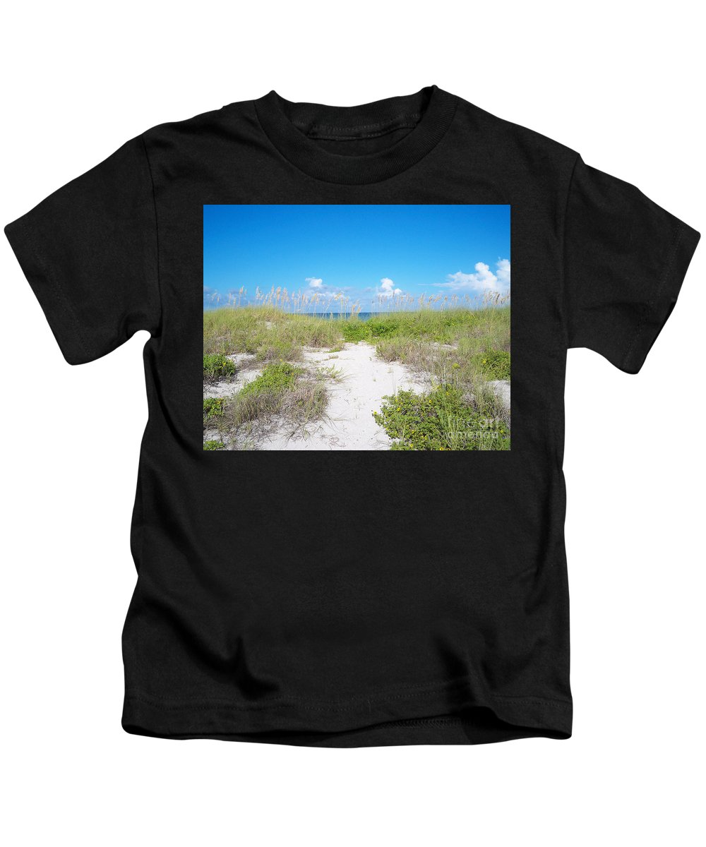 Florida Kids T-Shirt featuring the photograph Distant Sea by Chris Andruskiewicz