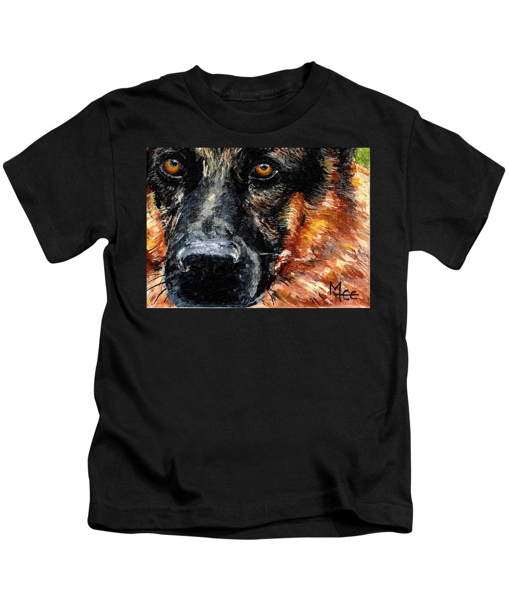 Charity Kids T-Shirt featuring the painting Dixie by Mary-Lee Sanders