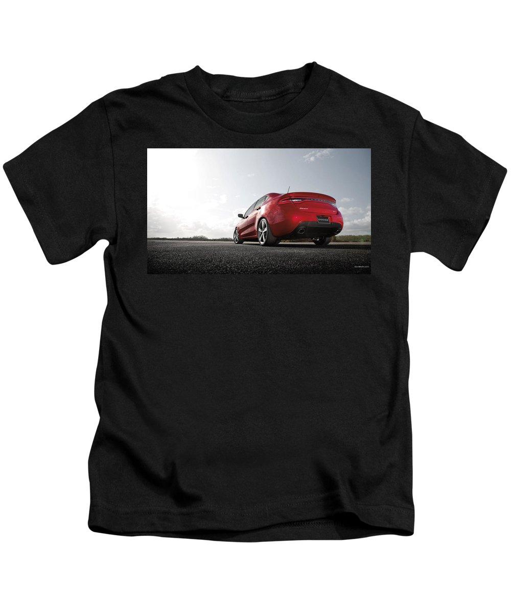 Dodge Dart Gt Kids T-Shirt featuring the digital art Dodge Dart Gt by Dorothy Binder