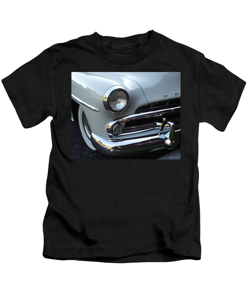 Dodge Kids T-Shirt featuring the photograph Dodge by Tim Nyberg