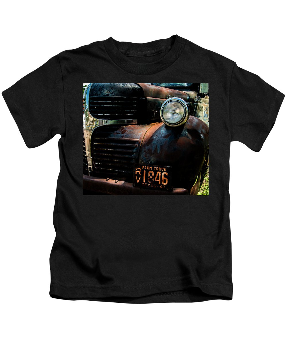 Rusty Kids T-Shirt featuring the photograph Dodge Truck by Ed Ostrander