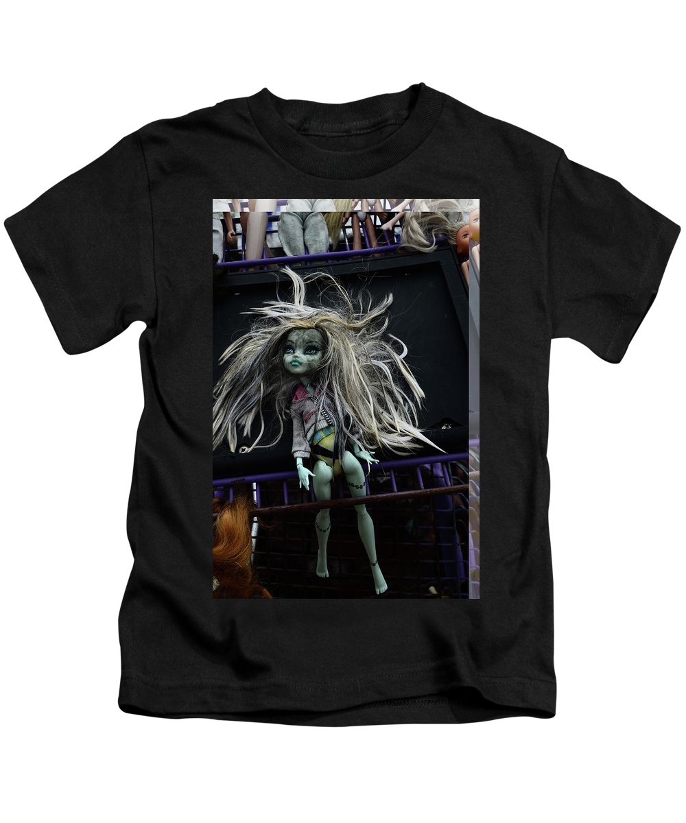Babe Kids T-Shirt featuring the photograph Doll X1 by Char Szabo-Perricelli