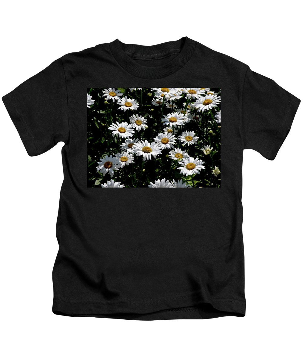 Daisies Kids T-Shirt featuring the photograph Dollop Of Daises by Trish Tritz