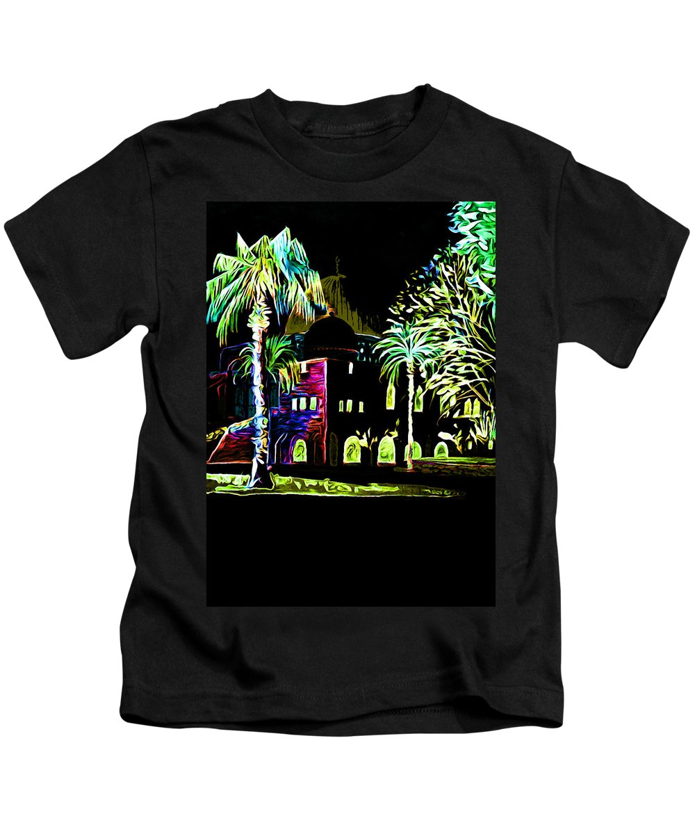 Night Kids T-Shirt featuring the photograph Dome Of The Rock At Night by Munir Alawi