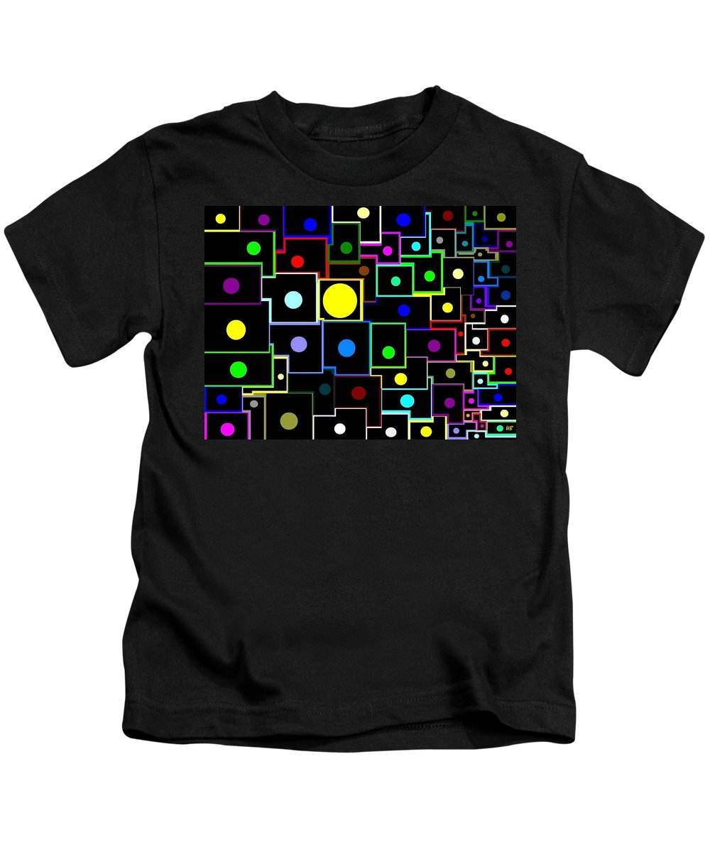 Abstract Kids T-Shirt featuring the digital art Domino Effect by Will Borden