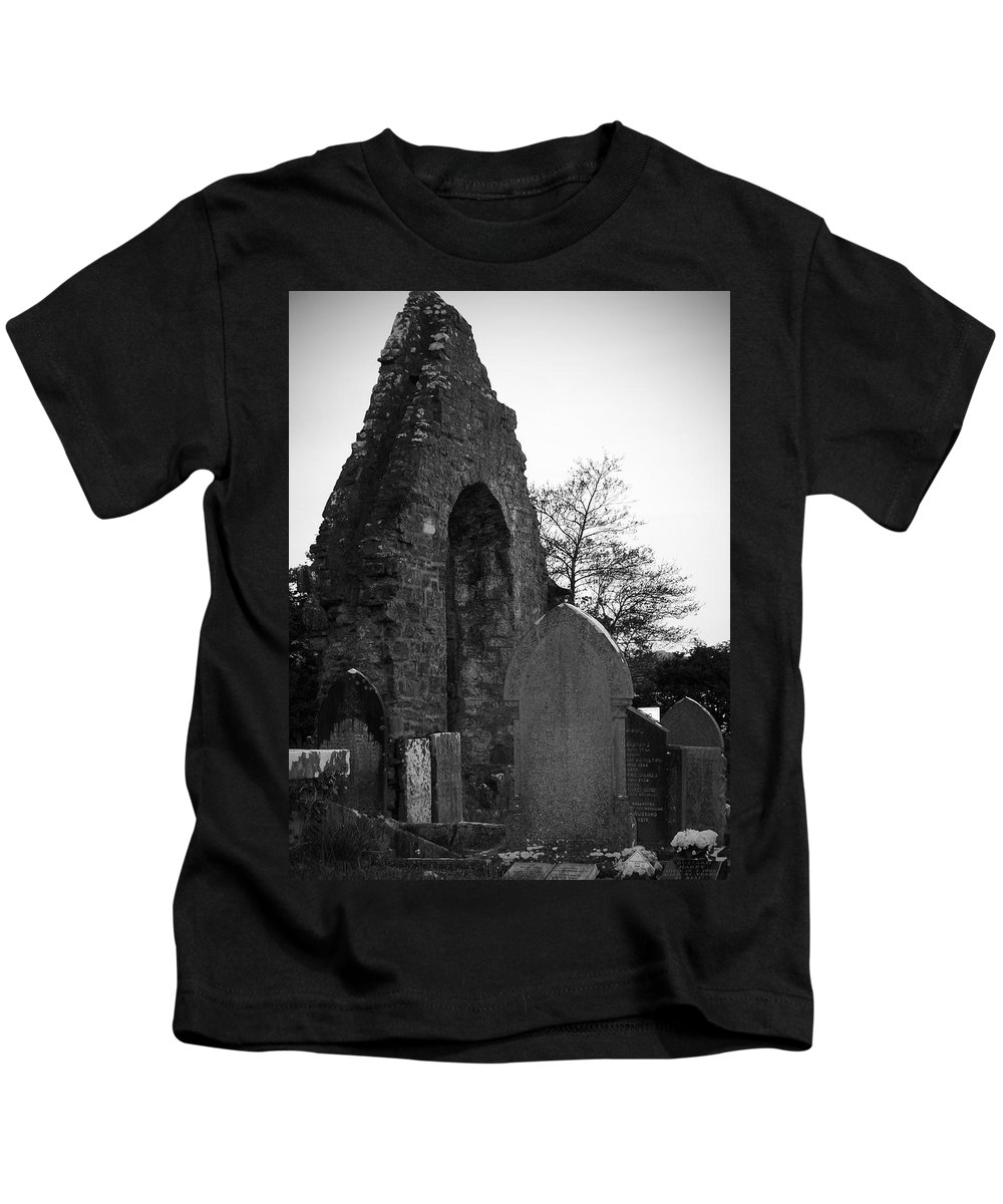 Irish Kids T-Shirt featuring the photograph Donegal Abbey Ruins Donegal Ireland by Teresa Mucha