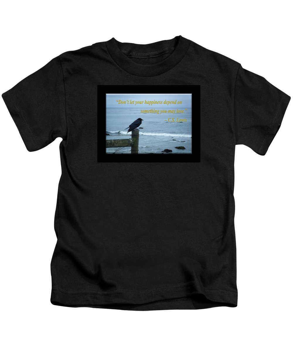 C.s. Lewis Kids T-Shirt featuring the photograph Dont Let Your Happiness Depend On Something You May Lose by Tamara Kulish
