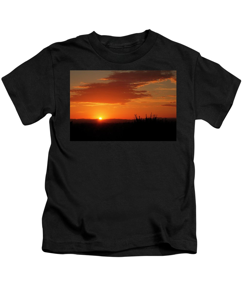 Sunset Kids T-Shirt featuring the photograph Don't Look At The Sun by Pauline Darrow