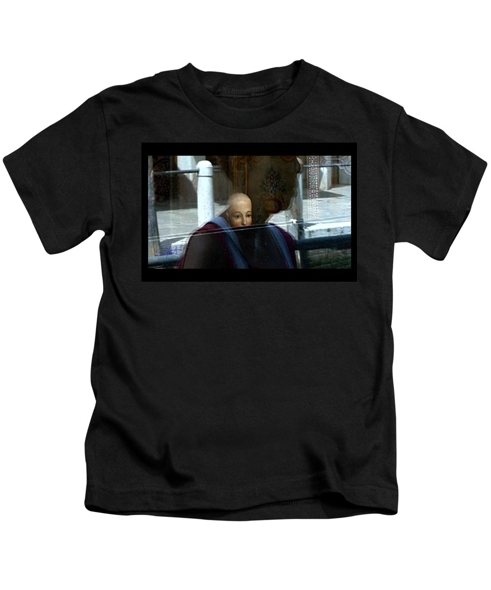 Venice Kids T-Shirt featuring the photograph Dorsodouro by Charles Stuart
