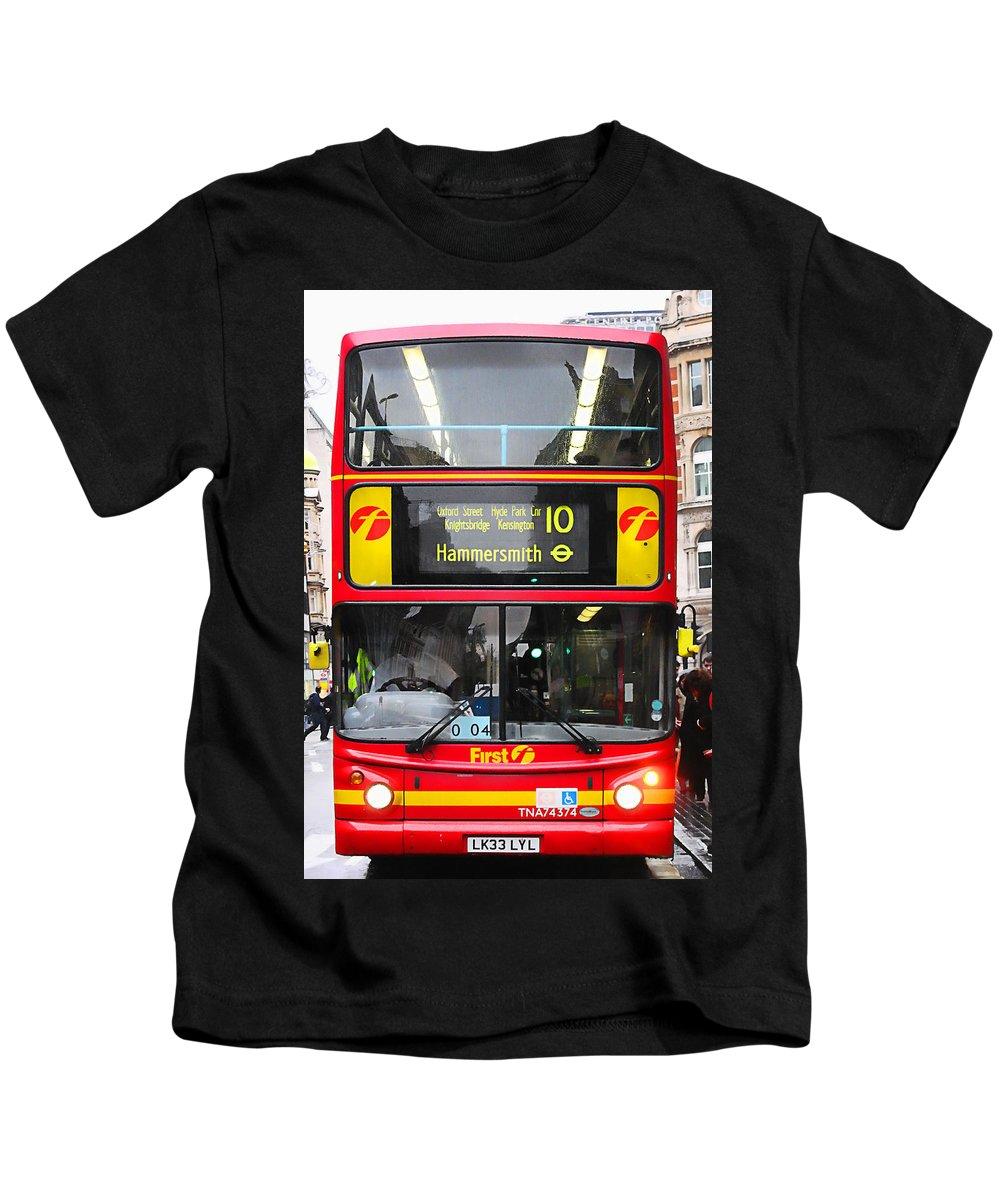 London Kids T-Shirt featuring the photograph Double Decker by Osvaldo Hamer