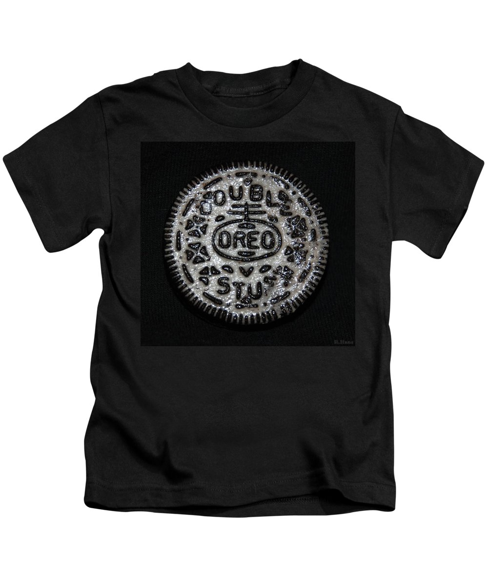 Oreo Kids T-Shirt featuring the photograph Double Stuff Oreo by Rob Hans